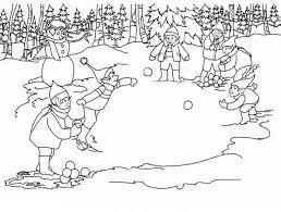 Disegni Da Colorare Bambini Che Giocano Con La Neve Fredrotgans