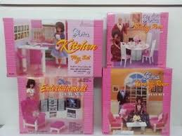 Barbie furniture for dollhouse Gloria Image Is Loading Gloriabarbiedollhousefurniture kitchendiningentertainment Ebay Gloria Barbie Doll House Furniturekitchendiningentertainment