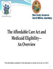 Aca Overview Slides 7 12 13 Pdf The Affordable Care Act