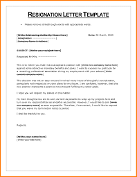 Letter Format On Word Resignation Letter Format Word Document Copy Resignation Letter 13