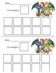 Pokemon Behaviour Chart Pokemon Reward Chart Worksheets Teaching Resources Tpt