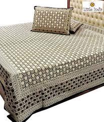 little india traditional jaipuri cotton double bed sheet set