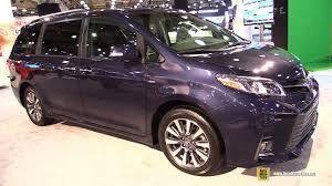 2018 toyota van.  van 2018 toyota sienna ltd awd  exterior and interior walkaround 2017 ny  auto show in toyota van t