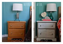 before and after nightstand Annie Sloan Chalkpaint makeover 1024x723