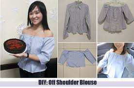 now to test the diy i ve seen on you i will share in this post on how i did this cute off shoulder i m wearing below