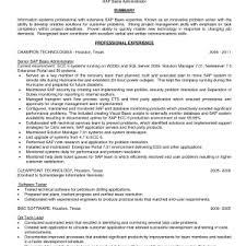 cover letter Sap Basis Administrator Resume Format Template Resumesap basis  resume