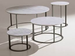 round marble coffee table sets