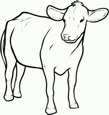 Small Picture Coloring Pages Of Baby Calf On Images Cow Printable A Cowboy