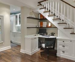 Formal, Under Stairs Home Office