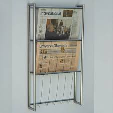 newspaper rack 1. Perfect Rack Peter Boy  Wall Newspaper Rack 3 Hole In 1 A