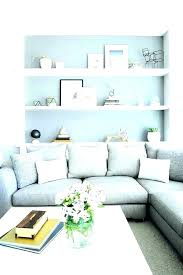 shelf behind couch shelf behind couch wall shelf behind sofa grey wall shelves neutral living room shelf behind couch