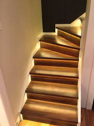 under stairs lighting. LED Strip Installed Under Staircase Stairs Lighting