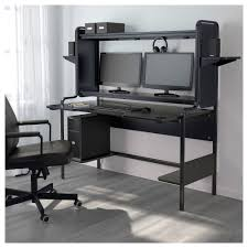 IKEA - FREDDE, Computer work station , The workstation is extra comfortable  to work at, because the contoured table top allows you to sit close and  supports ...