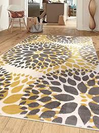 modern fl circles area rug