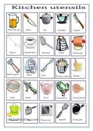 kitchen furniture names. Esl Kitchen Furniture Names
