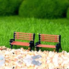 dollhouse outdoor furniture. Dollhouse Garden Furniture 2 Miniature Chair Outdoor Decor Park Bench Barbie C