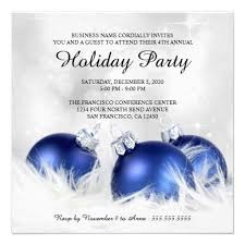 Corporate Holiday Party Invite Corporate Christmas And Holiday Party Invitations Zazzle