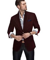 Balzer Designs For Man Maroon Blazer With Pocket Square Mens Burgundy Blazer