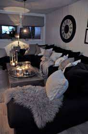 living room ideas with black sectionals. Black Couches, Fluffy Pillows, Lit Candles, So Cozy Grey White And Living Room Ideas With Sectionals L