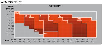 2xu Youth Compression Tights Size Chart Wiggle Com 2xu Pwx Womens Compression Tights Internal