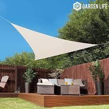 shade sails cream sun shade sail garden