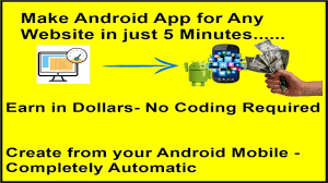 create android app for any website in just minutes create android app for any website in just 5 minutes completely automatic