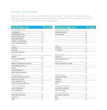 Monthly Expense Worksheet Excel Expenses Budget Sheet Free