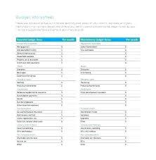 Home Budget Spreadsheet Template Free Household Worksheet