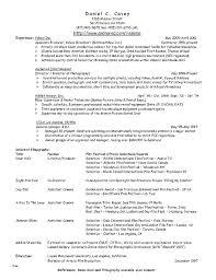 Production Resume Examples Best Of Film Assistant Director Resume Sample And Retail Manager