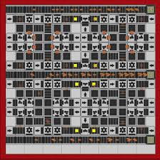 Assembly Line Design Pattern 16x16 24 Circuit Assembly Line Only Uses 3 Transporters Is