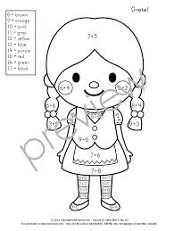 Small Picture Free Color by Number Addition Pages The Measured Mom