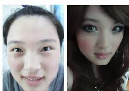 it appears that lots of asian s are real masters of make up so be careful if you end the night with one you might have a surprise in the morning