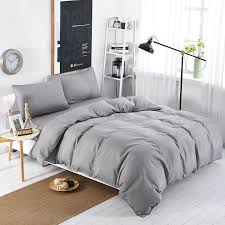 whole new bedding sets simple color lake blue striped bed sheet duver quilt cover pillowcase soft silver gray king queen full twin southwestern bedding