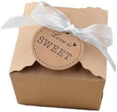 Gespout <b>100 Pcs</b> Candy Box Retro <b>Style</b> Gift Box Kraft Paper Gift ...