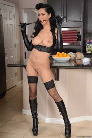 Isis Love housewife rides cock on the kitchen counter top.