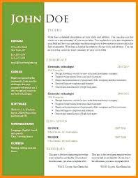 Modern Resume Template Word Format Template For Resume Word Free Resume Template Microsoft Word Teacher