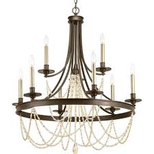 progress lighting fiorentino collection forged bronze. allaire collection 9-light antique bronze chandelier progress lighting fiorentino forged