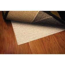 non slip hard surface beige 3 ft x 5 ft rug