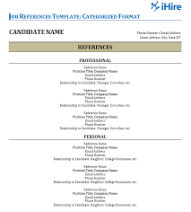 job reference job references template reference page ihire