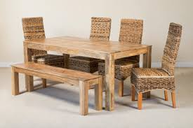 light mango seater dining set catalina  seater light mango dining set with bench