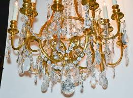 marvellous fine quality 19th century french gilt bronze and rock crystal 16 light chandelier
