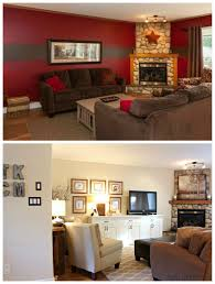 layout painted buffet art gallery on gentle cream walls with cloud white casual comfy transitional style on transitional style wall art with before and after decorate a living room with a tv and a stone