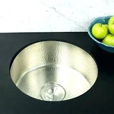 undermount bar sink. Small Undermount Bar Sink Sinks Collection Inch Round Hammered Prep In Satin