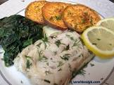 baked fish with spinach