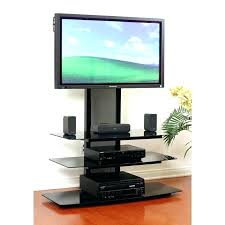 Tv Stand For 48 Inch Wide Black Glass With Integrated  Flat Panel48