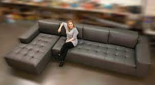 large modern sectional sofa with chaise