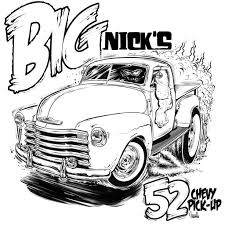 Small Picture 64 chevy truck Colouring Pages page 2 Hot Rod Coloring