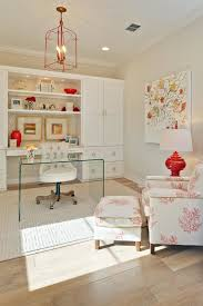 home office storage decorating design. Beige Home Office With A Pop Of Color In The Shape Red Details Storage Decorating Design