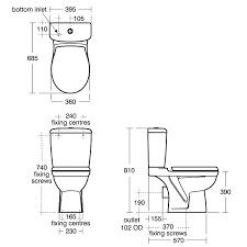attractive water closet size standard toilet dimensions water closet size sk41