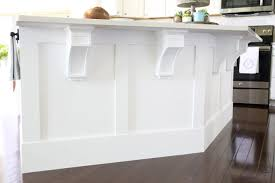 diy kitchen island trim craftsman trim wood corbels how to install wood
